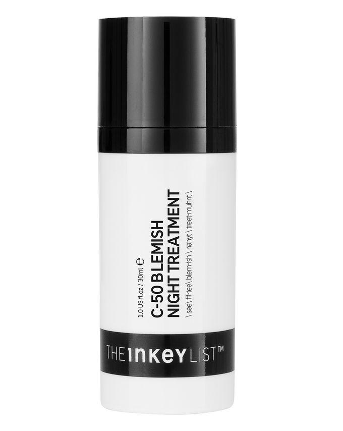 siero alla Vitamina C e acido salicilico The Inkey List C-50 Blemish Night Treatment